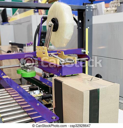 élelmiszer, felszerelés, csomagolás, iparág - csp32928647