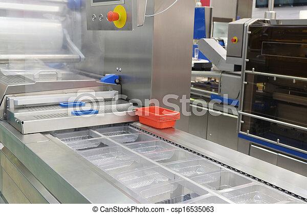 élelmiszer, felszerelés, csomagolás, iparág - csp16535063