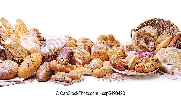 élelmiszer, friss, csoport, bread - csp5498420