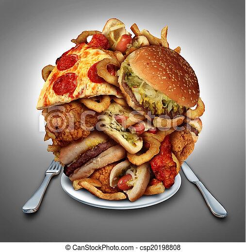 élelmiszer, gyorsan, diéta - csp20198808