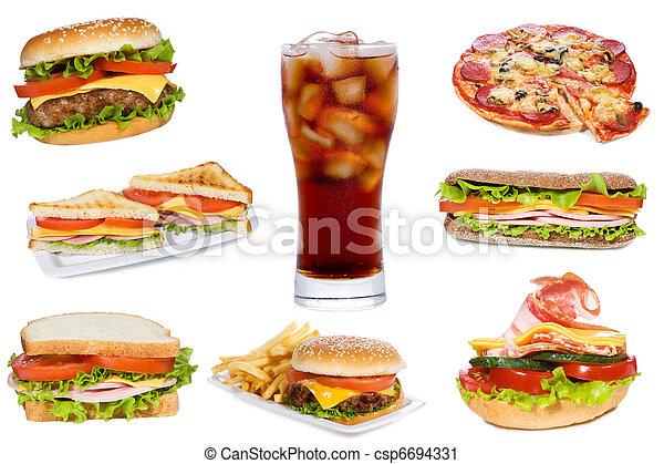 élelmiszer, gyorsan - csp6694331