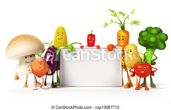élelmiszer, növényi, -, betű - csp13087713