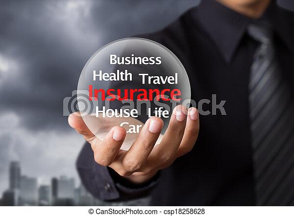 élet, fogalom, biztosítás - csp18258628
