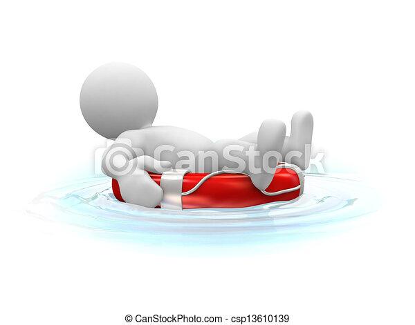 élet, sunbath, öv - csp13610139