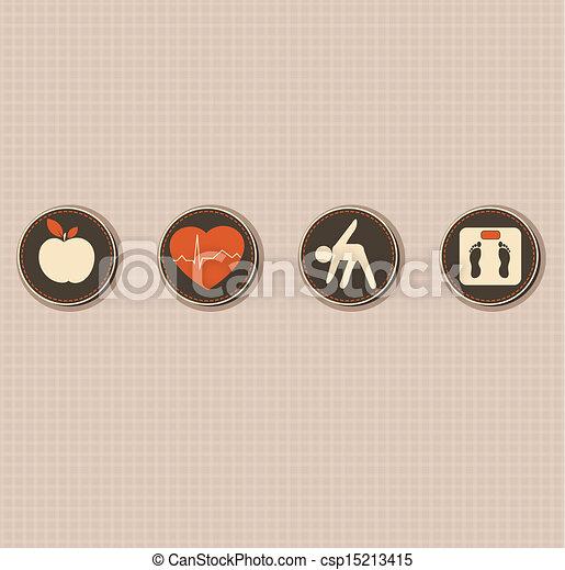 életmód, egészséges - csp15213415
