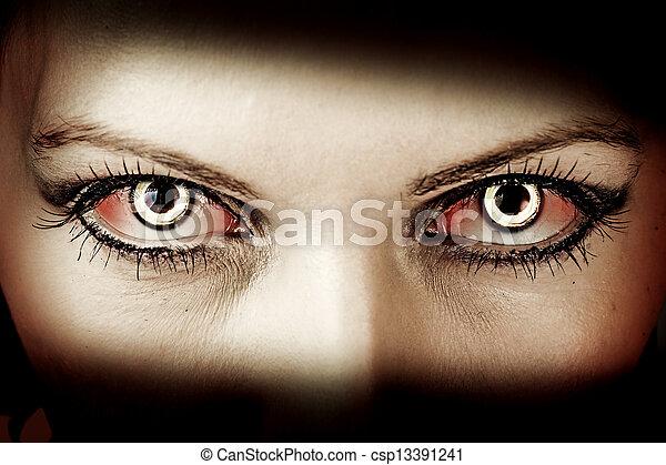 életre keltett hulla, szemek, rossz - csp13391241
