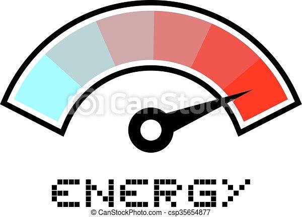 Élevé, énergie, symbole. Élevé, énergie, conception ...