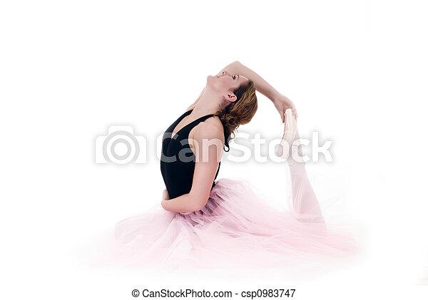élevé, ballerine, joli, clã© - csp0983747