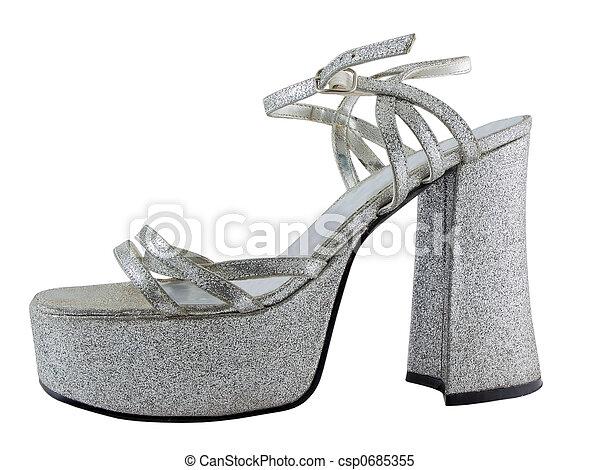 élevé, chaussure, talon - csp0685355