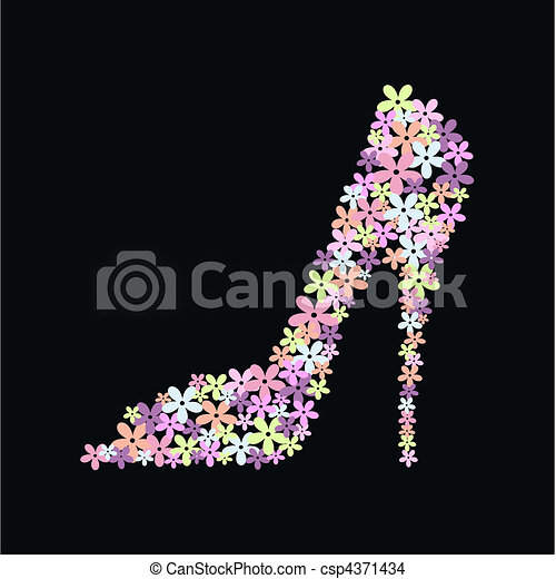 élevé, chaussure, talon - csp4371434