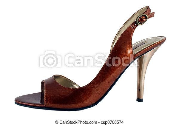 élevé, dames, chaussure, talon - csp0708574