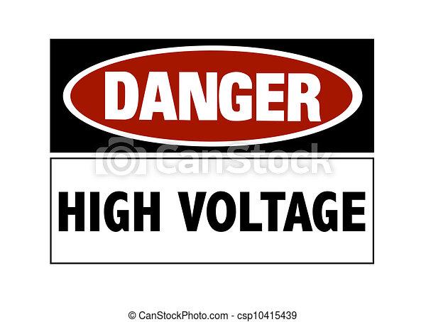 élevé, danger, -, tension, signe - csp10415439