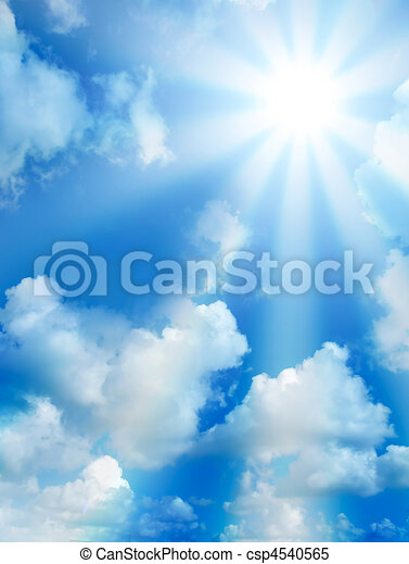 élevé, ensoleillé, nuages, qualité, ciel - csp4540565