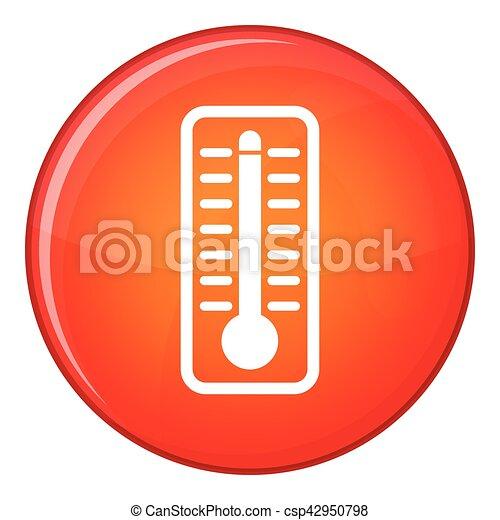élevé, indique, thermomètre, température, icône - csp42950798