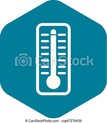 élevé, indique, thermomètre, température, icône - csp67276439
