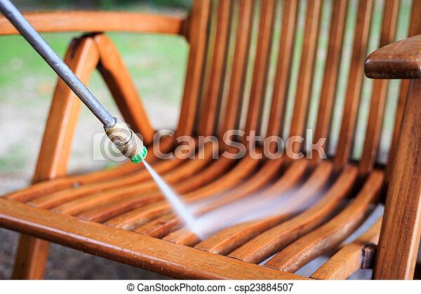 Lev Jet Bois Pression Eau Nettoyage Chaise