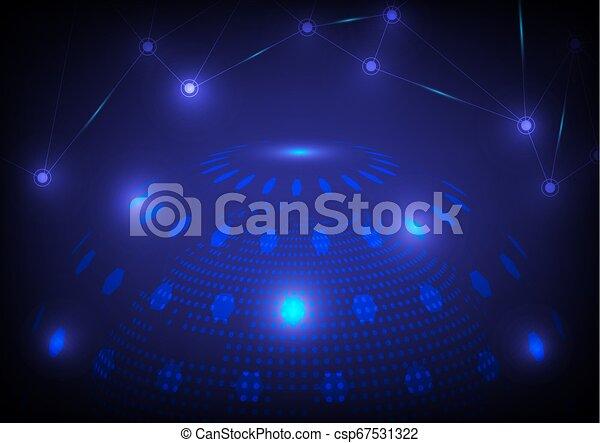 élevé, mondiale, résumé, technologie, arrière-plan. - csp67531322