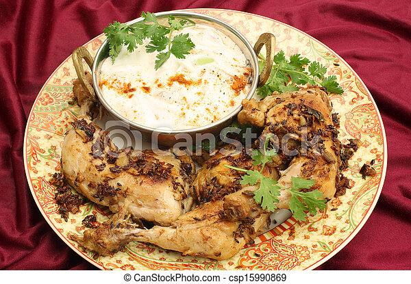 élevé, poulet, angle, jeera - csp15990869