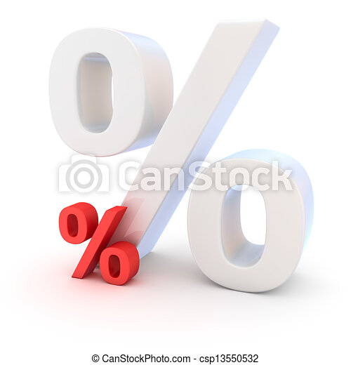 élevé, taux, bas intérêt - csp13550532