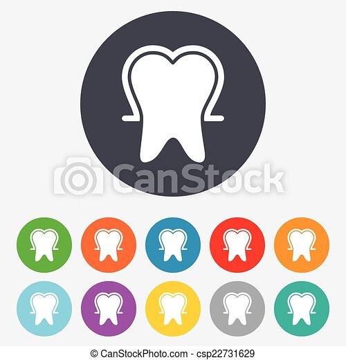 émail, dentaire, symbole., signe, protection, icon., soin dent - csp22731629