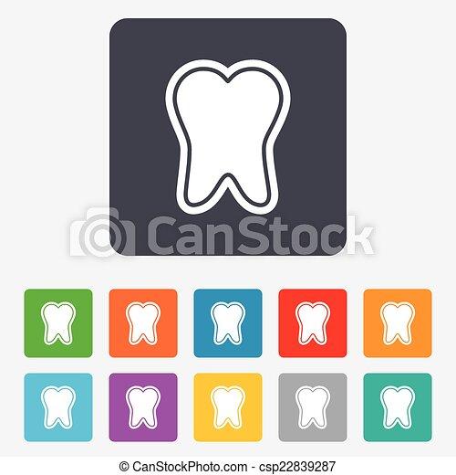 émail, dentaire, symbole., signe, protection, icon., soin dent - csp22839287