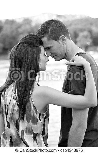 émotif, couple - csp4343976