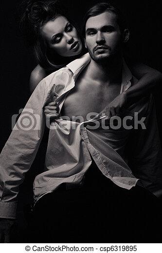 émotif, scène, sexy - csp6319895