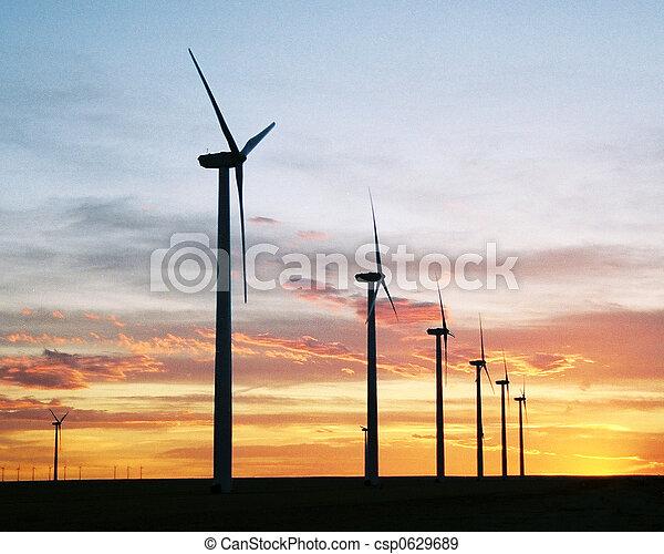 énergie, coucher soleil - csp0629689