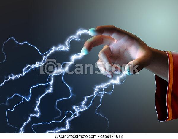énergie, doigts - csp9171612