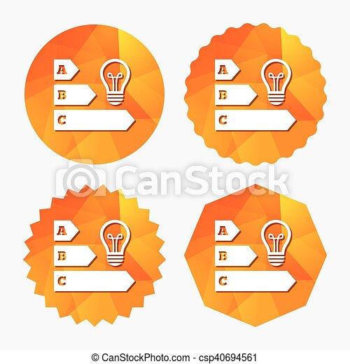 énergie, idée, symbole , efficacité, lampe, ampoule, icon