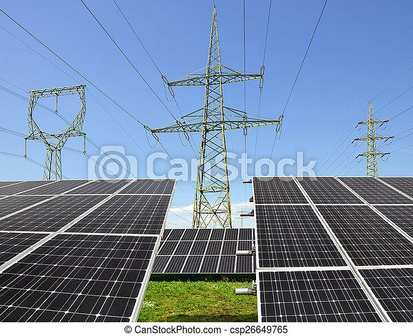 énergie, panneaux, solaire - csp26649765