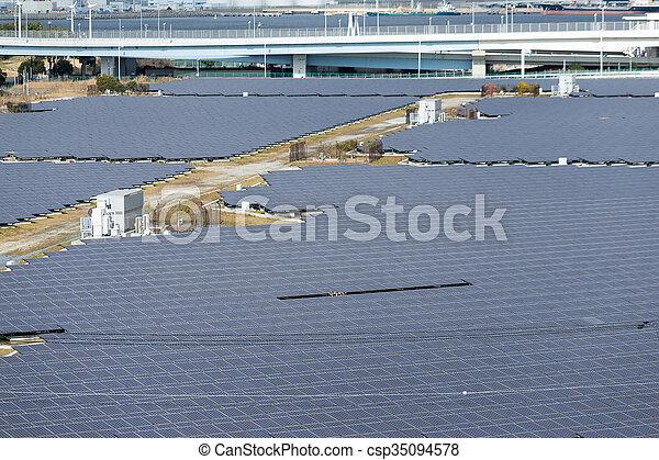 énergie, panneaux, solaire - csp35094578