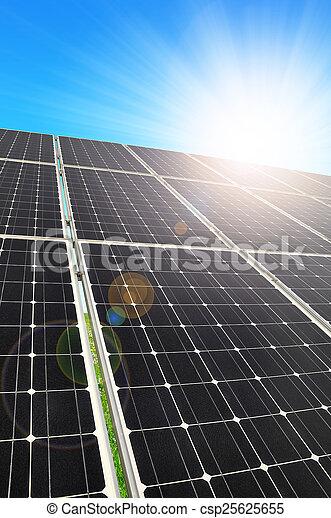 énergie, panneaux, solaire - csp25625655