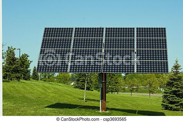 énergie, panneaux, solaire - csp3693565