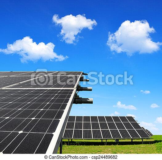 énergie, panneaux, solaire - csp24489682