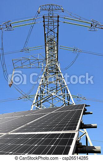 énergie, panneaux, solaire - csp26514285