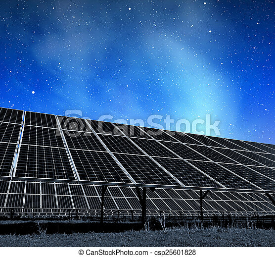 énergie, panneaux, solaire - csp25601828
