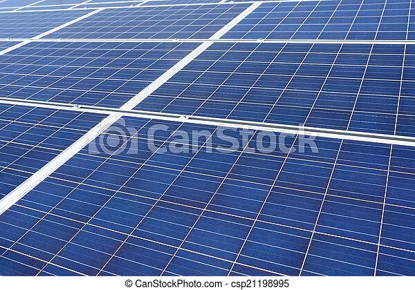 énergie, panneaux, solaire - csp21198995