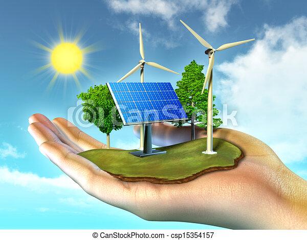 énergie, renouvelable - csp15354157