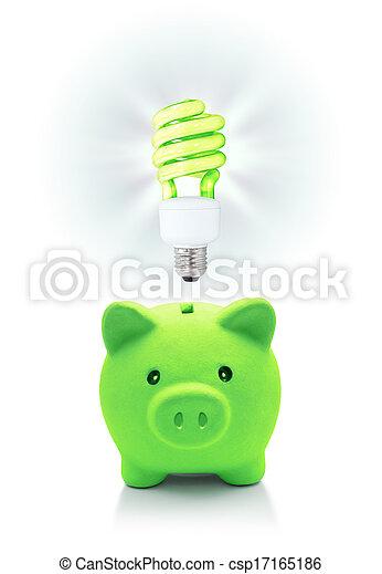 énergique, idée, vert, économie - csp17165186