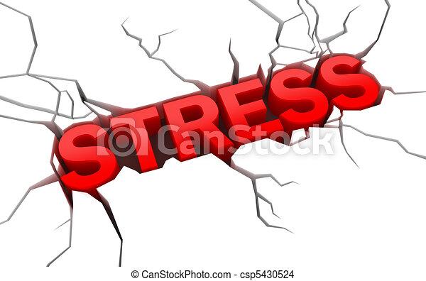 Estrés en la superficie rota - csp5430524