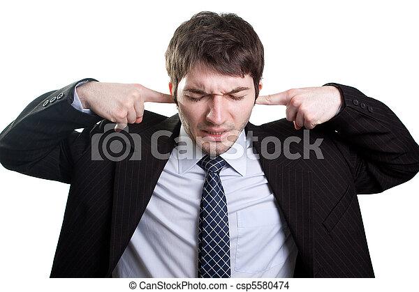 Concepto de estrés y ruido - csp5580474