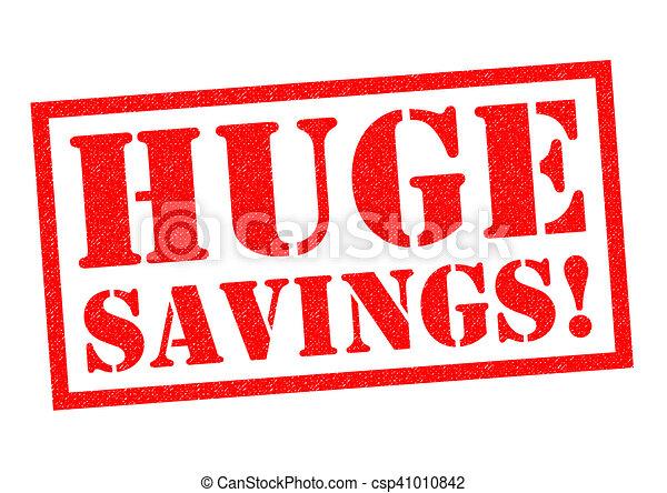 énorme, savings! - csp41010842