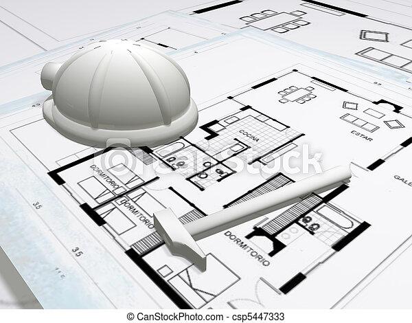 építészet - csp5447333