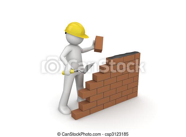 építő, szerkesztés, /, alatt - csp3123185