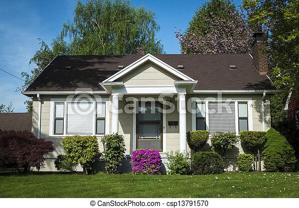 épület, amerikai, kézműves - csp13791570