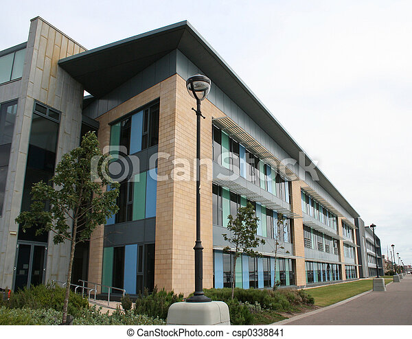 épület, emelkedik, alacsony, hivatal - csp0338841