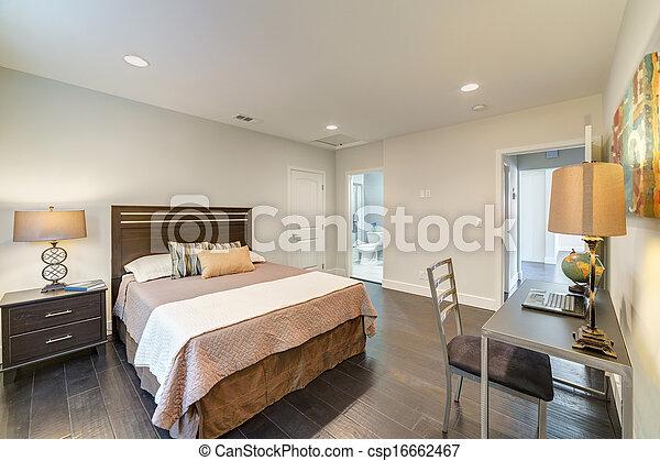 épület, fiatalúr, fényűzés, hálószoba - csp16662467