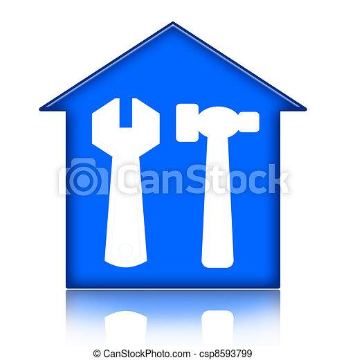 épület, helyreállítás - csp8593799