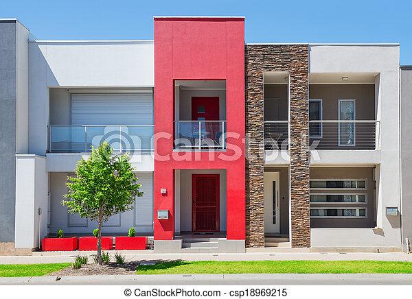 épület, külvárosi, modern - csp18969215